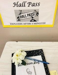 bathroom pass