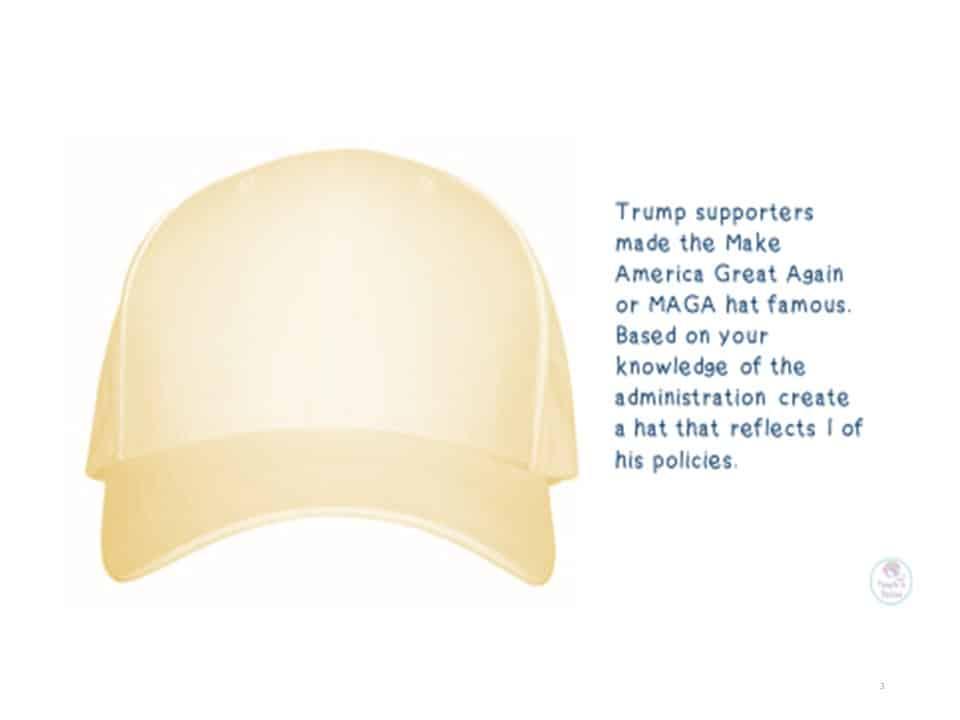 design a Trump hat
