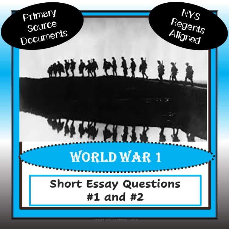 U.S> Regents Short Essay Ques WW1