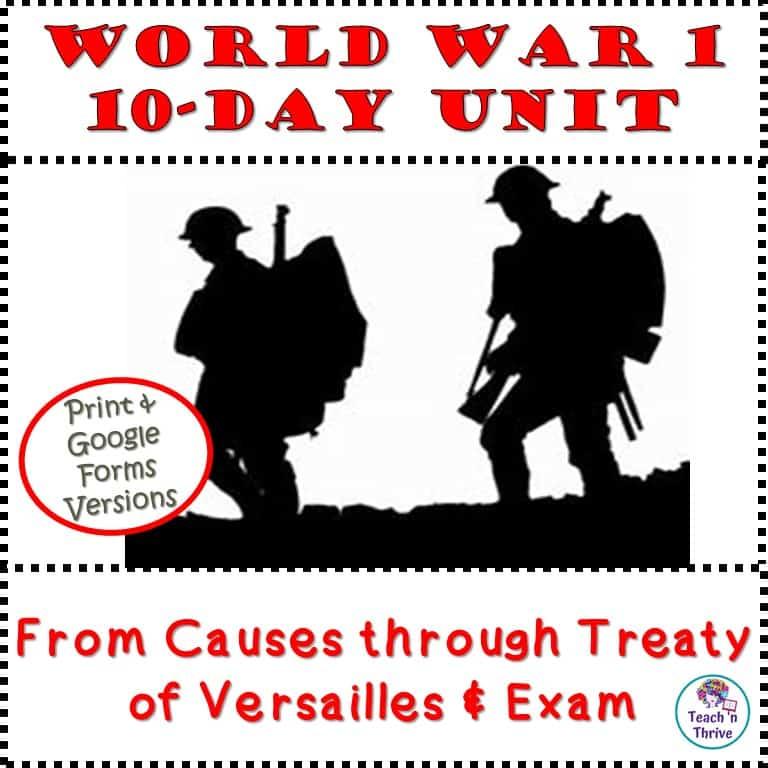 World War 1 Unit Cover