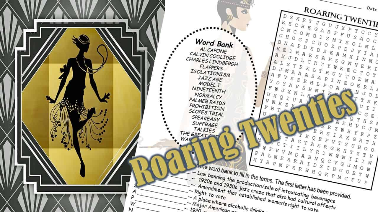 roaring twenties word puzzle