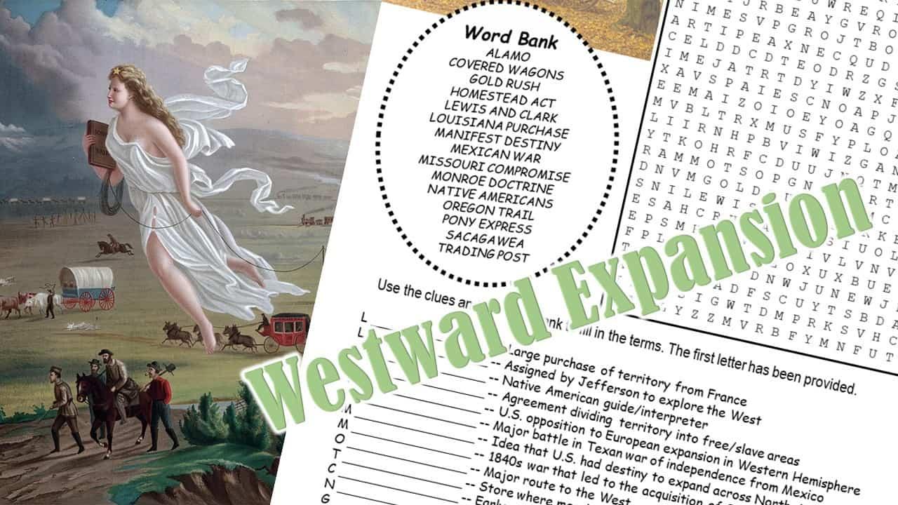 westward expnion word puzzle