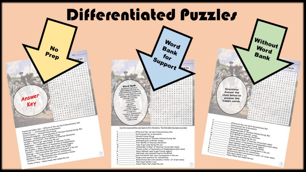 Differentiated Puzzles