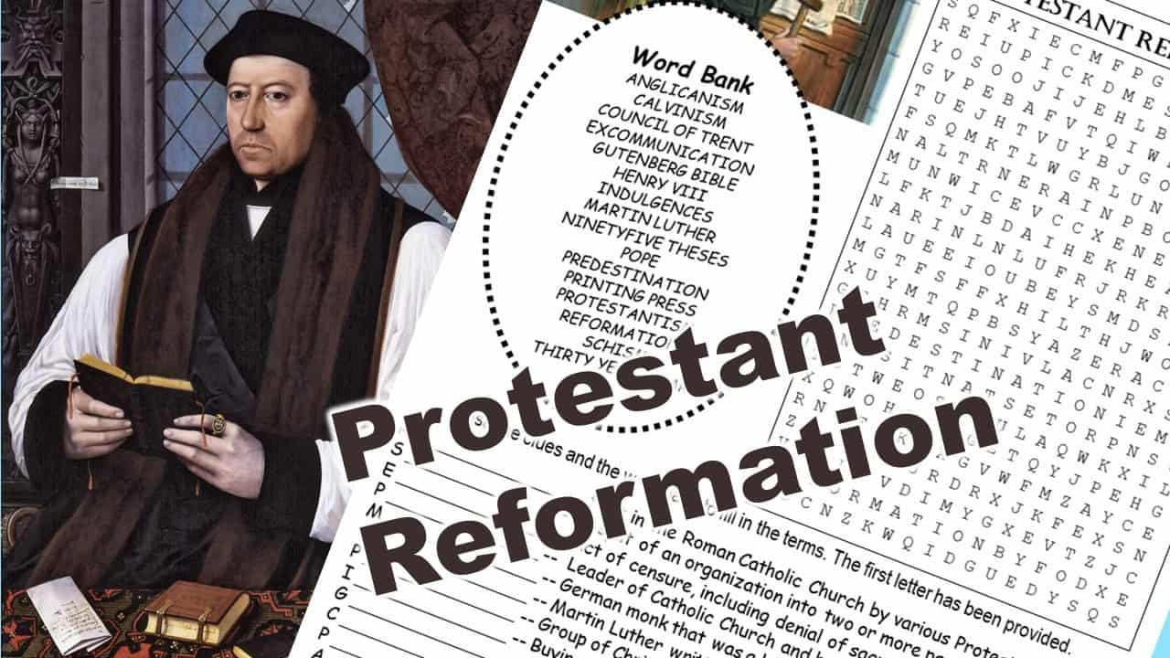 protestant reformation puzzle