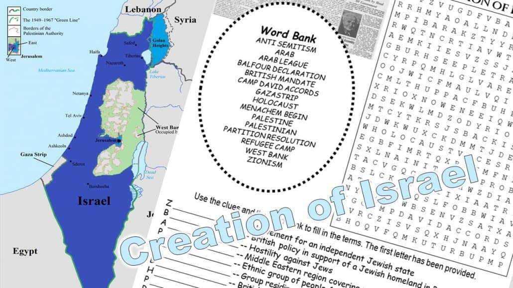 Creation of Israel Word Puzzle