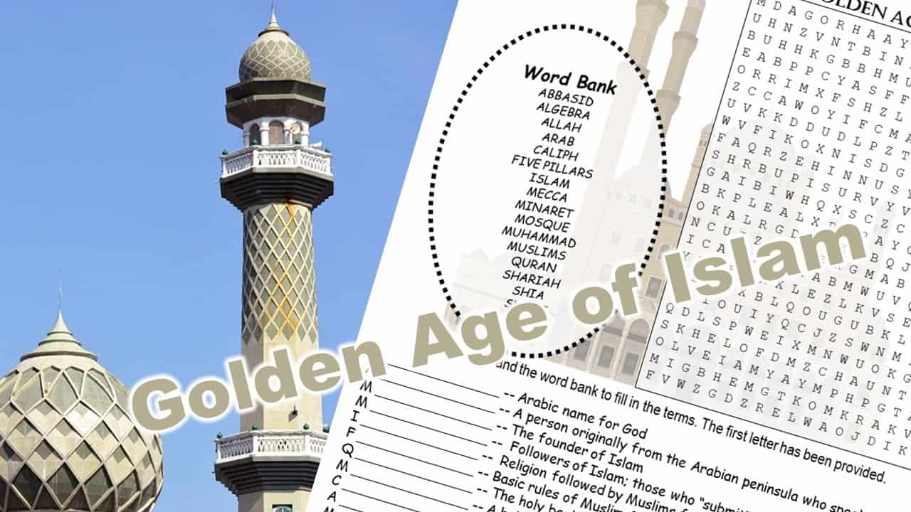Golden Age of Islam word puzzle