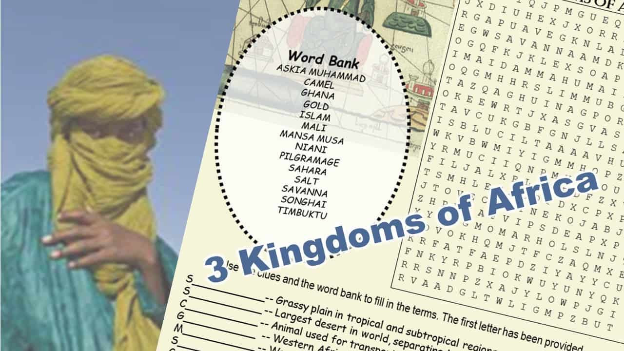 Kingdoms of Western Africa puzzle