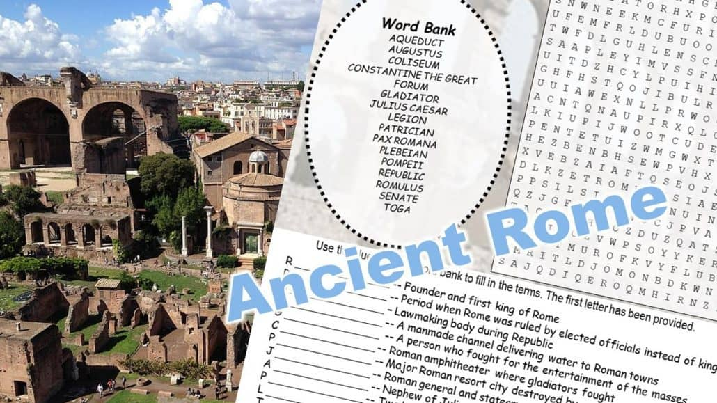 Ancient Rome Word Puzzle