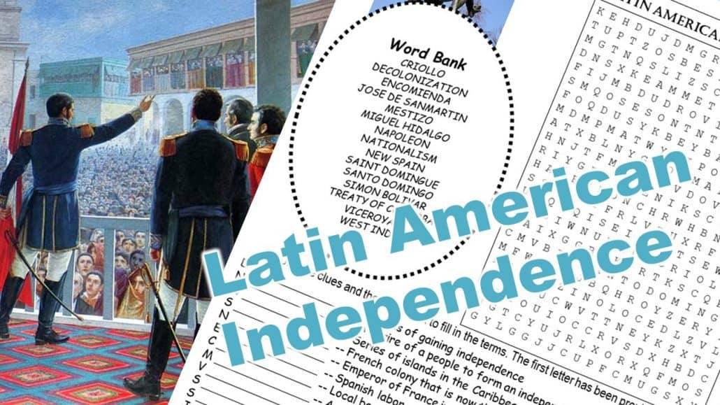 Latin American Independence Movements Puzzle