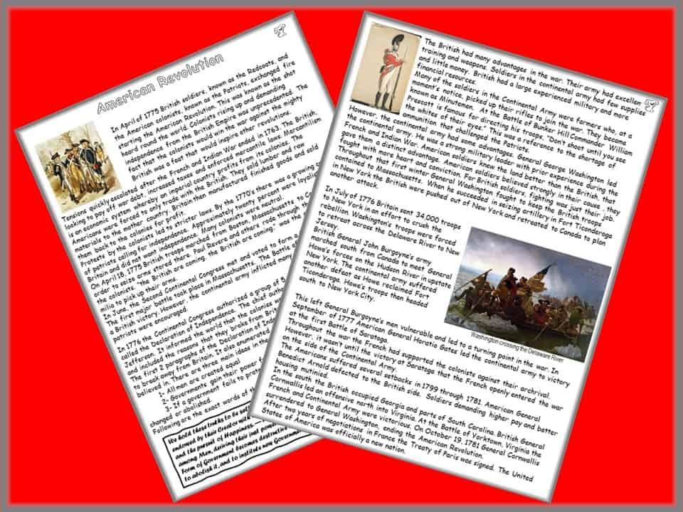 American Revolution reading pic