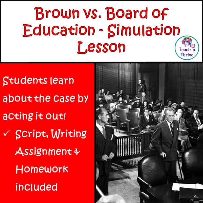 Cover Brown v. Board of Ed