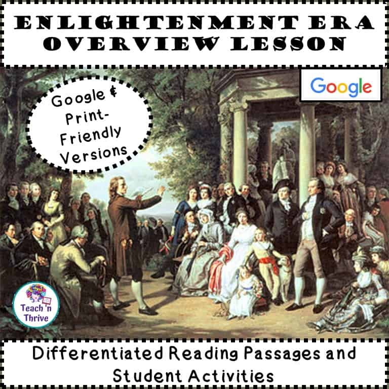 Cover Enlightenment Overview Lesson Free