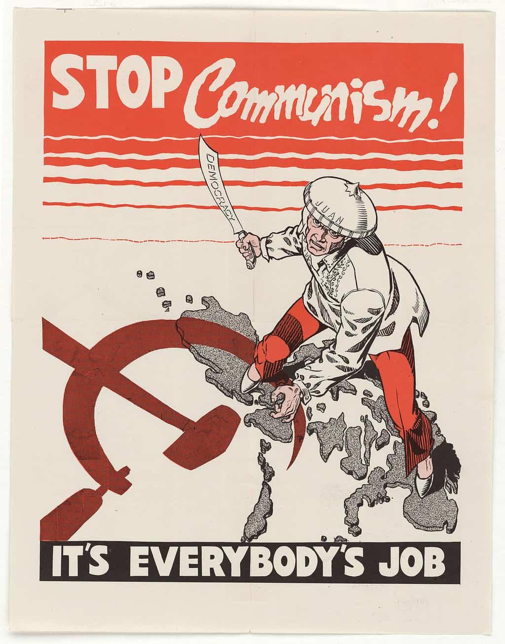 Stop Communism propaganda poster main