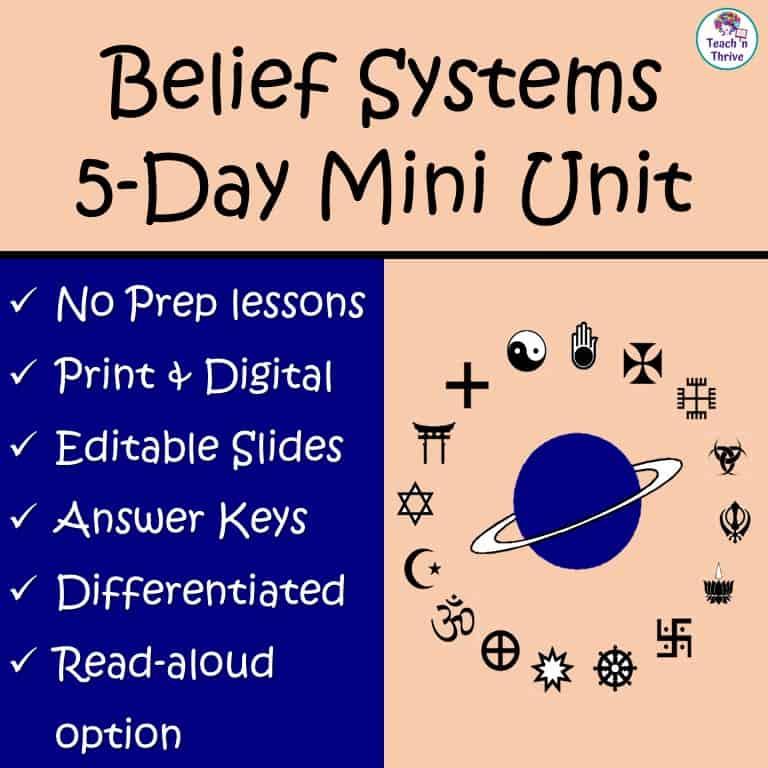 Belief Systems Mini Unit
